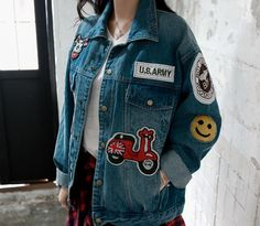 Loveliness of the female clothing shop. [Whitefox] Brother ran JK / Size : FREE / Price : 39.46 USD #korea #fashion #style #fashionshop #apperal #koreashop #ootd #whitefox #outer #denim #denimjacket #dailylook