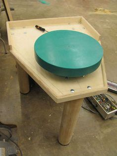 DIY potters wheel...how to build a pottery wheel out of found parts.
