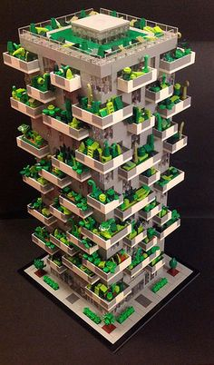 LEGO Bosco Verticale Side View | by AzureBrick