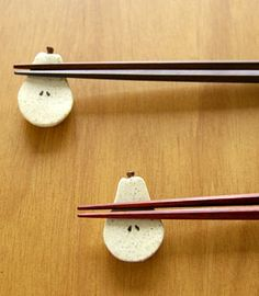 洋梨の箸置き 和食器通販【うつわギャラリー*チョイス】