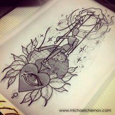 ... Chernov |  ️#hand #globe #eye #doll #puppeteer #tattoo
