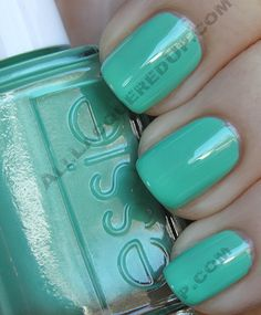 Essie's Turquoise and Caicos. Reminds me of TIffany & Co. jewelry boxes minus the price tag.