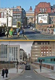Hill Street,Birmingham 1967 and now. Aston Birmingham, Birmingham City Centre, Birmingham England, Political Geography, Council House, 2nd City, West Midlands, England Uk, Travel Posters