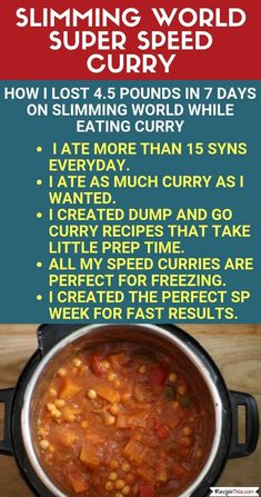 My Slimming World Super Speed Curry Week. How I LOST weight on by… My Slimming World Super Speed Curry Week. How I LOST weight on by creating my own super speed curry week! My Slimming World, Slimming World Recipes, Easy Healthy Recipes, Diet Recipes, Easy Meals, Vegan Recipes, Delicious Recipes, Easy Healthy Breakfast, Breakfast Recipes