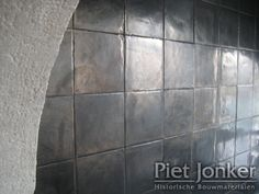 Handmade tiles with metallic glaze - Piet Jonker Delft, Hardwood Floors, Flooring, Handmade Tiles, White Tiles, Guest Bath, Countertops, Tile Floor, New Homes
