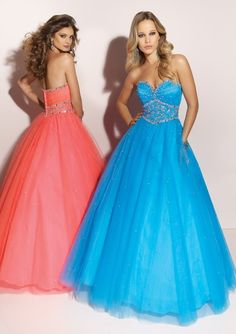 prom dresses prom dresses for teens prom dresses long blue blue full a-line sweetheart floor-length tulle prom dress with beading