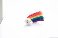 Cute Kawaii rainbow needle felt tutorial DIY by Kawaii Felting
