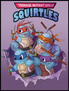Teenage Mutant Ninja Squirtles!!! :3