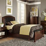 Liberty Furniture Avalon Leather Storage Bed - Dark Truffle deals week