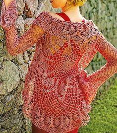 Free Crochet Vest Patterns   Crochet Sweater: Lace Cardigan - Crochet Vest pattern
