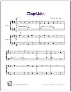 Chopsticks (Duet) | Free Sheet Music for Easy Piano - http://makingmusicfun.net/htm/f_printit_free_printable_sheet_music/chopsticks-piano-duet.htm (Scheduled via TrafficWonker.com)