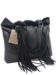Mcfadin Fringe Tassel Large Women S Tote Bag Black 860blk