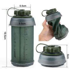 Outdoor Collapsible Sport TPU Soft Folding Water Bottle for Camping Travel Running - Findonwebs Survival Life, Survival Tools, Camping Survival, Outdoor Survival, Survival Prepping, Backpacking Gear, Bushcraft, Collapsible Water Bottle, Food Storage Boxes