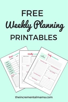 Organization and planning is the key to living well and achieving your goals. These FREE printables are all you need to plan your week, do weekly meal planning, and complete a detailed daily to-do list.