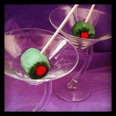 Martini Olive Martini..SHAKEN NOT STIRRED..Created by Annie Mae's Cheesecake & Moore Brooklyn,NY