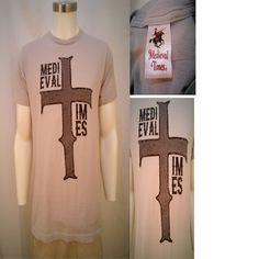 Medieval Times Light Gray Men's Medium Short Sleeve T-Shirt 100% Cotton #MedevalTimes #GraphicTee
