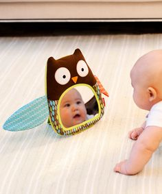Take a look at this Owl Hug & Hide Peekaboo Mirror on zulily today!