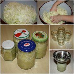 Making sauerkraut in a glass - Making sauerkraut yourself - preserving - cooking Making Sauerkraut, Canning Pickles, Easy Cake Recipes, Delicious Vegan Recipes, Yams, Vegan Foods, Kimchi, Clean Eating, Good Food