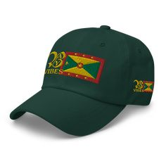CARIBBEAN SUMMER FLAVOUR Spice up your attire with this colourful and vibrant summer hat. From the land of spice, sporting the Back A Yard vibes logo with the Grenadian flag. Sunshine and good vibes Think holiday, sunshine and good vibes and add some Caribbean flavour to your wardrobe. This hat's got a low profile with an adjustable strap and curved visor. Summer Hats, Dad Hats, Spice Things Up, Caribbean, Sunshine, Baseball Hats, Dads, Flag, Vibrant