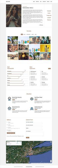 Vitae Resume, CV \ Portfolio Personal WordPress Theme with Shop - wordpress resume theme