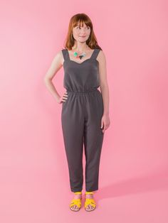 We are sooooo excited to introduce you to our latest sewing pattern! Marigold features two Summer essentials in one pattern – whip up a stylish jumpsuit or casual trousers, destined to become your go-