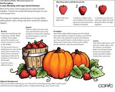 I Like Markers: Fall Pumpkins Class, Freebie