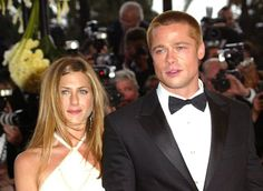 Pin for Later: L'Amour! The Hottest Cannes Couples Past and Present Jennifer Aniston and Brad Pitt in 2004