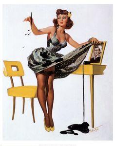 Image gallery for the vintage pinup art of Joyce Ballantyne Pin Up Vintage, Retro Pin Up, Retro Vintage, Poses Pin Up, Gil Elvgren, Fashion Mode, Retro Fashion, Pin Up Girls, Dibujos Pin Up