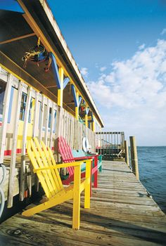 Wouldn't you love to sun yourself in one of these chairs on a Pine Island dock?