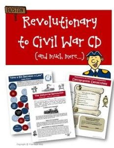 Making US History Fun in the Classroom – Revolutionary to Civil War Bundle