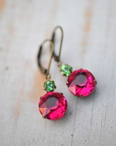 Vintage Earrings Swarovski Crystal by NotOneSparrow, $22.00