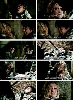 OK so I firmly Ship Bellarke, but  I'll also accept the fact that they could just be best friends. It was the two of them for so long, they are apart of each other, even if not in a romantic sense, they both love one another and they need each other
