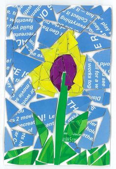 Yellow Purple Flower
