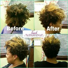 Before and after taper cut on natural hair ❤ www.touchofheavensalon.com