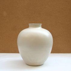 Vase boule céramique  signé Kéramos Années 50-6