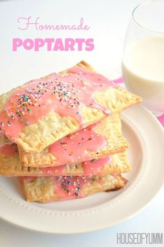 Homemade Poptarts.  Easy to make, plus you can control all the ingredients used!