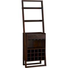 Sloane Java Wine Bar in Bar Cabinets | Crate and Barrel