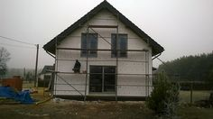 widok elewacji bocznej  #dom #elewacje #budowa