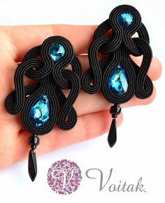 Soutache Jewelry. Artystyczna Biżuteria Autorska Katarzyna Wojtak: #0030 Tajemniczy Lazur. Sutasz