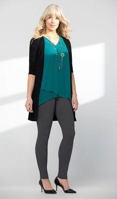Crossover Hem Tunic, Turquoise #loverickis #rickisfashion #instantoutfit #instantOOTD #fall2016 #fall #fallfashion