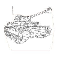 Tank2 3d illusion vector file - 3bee-studio