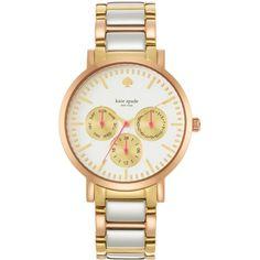 Women's kate spade new york 'gramercy grand' multifunction bracelet watch, 38mm Tri-Tone One Size