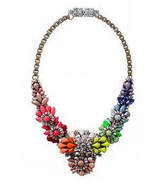 Shourouk Collier Apollonia Rainbow http://www.vogue.fr/mode/shopping/diaporama/fantaisie-chromatique-full-color-shopping-arc-en-ciel/12731/image/744923#shourouk-collier-apollonia-rainbow