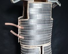 type F. Steel Plate, Vegetable Tanned Leather, Tan Leather, Vikings, Armour, Medieval, Handmade Items, Scale, Type