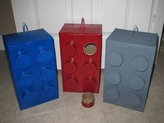 FUN Lego Inspired Brick Pinata Birthday Party Activity Game Favors - Red, Blue, Gray (Star Wars). $29.99, via Etsy.