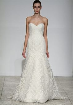Femme by Christos.  sweetheart. French corded lace.