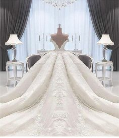 Custom Wedding Dresses and Bridal Gowns from The USA What ever you can envision we can create. We make custom as well as inexpensive of haute couture gowns at www. Princess Wedding Dresses, Dream Wedding Dresses, Bridal Dresses, Wedding Gowns, Wedding Bride, Dubai Wedding Dress, Puffy Wedding Dresses, Bridesmaid Dresses, Gorgeous Wedding Dress