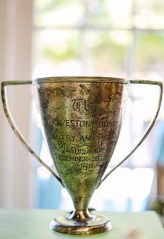 Engraved Trophy At Lily Bay In Savannah Georgia