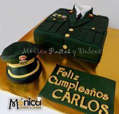 Esta es una torta para Policia Nacional del Perú, con detalles únicos en él.Visitanos en la pagina de facebook de Monica pastas y Dulces Military Cake, Military Party, Sugar Rush, Detective, Babyshower, Catering, Ale, Decoupage, Police