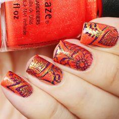 Mandala nail art using Papa Don't Peach @chinaglazeru и двойной стемпинг с плитки Mini Mandala Love @uberchicbeauty Papa Don't Peach by @chinaglazeofficial and #stamping plate Mini Mandala Love @uberchicbeauty #ChinaGlaze #Uberchicbeauty